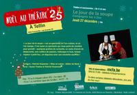"""Jeudi 27/12 : Noël au théâtre - """"Le jour de la soupe"""""""