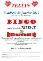 Télévie - Bingo à Tellin le 25 janvier 2019