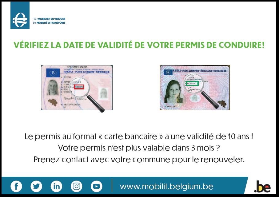 verifiez la validité de votre permis de conduire